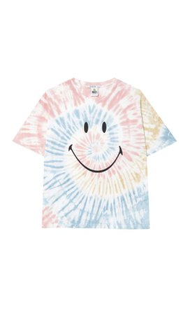 Smiley tie-dye T-shirt - Women's Just in | Stradivarius United States