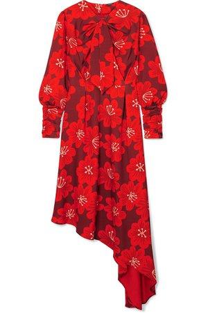 Dodo Bar Or | Melody floral-print crepe midi dress | NET-A-PORTER.COM