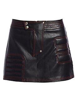 I.AM.GIA Kasha Faux Leather Skirt