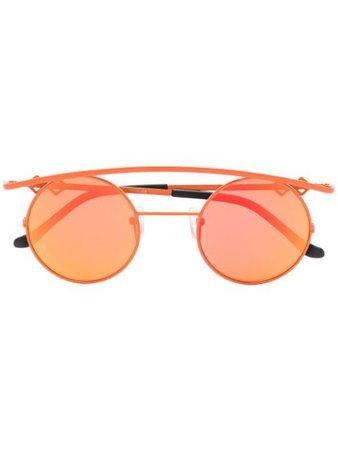 Orange Karen Wazen Mirror round retro sunglasses RETROXL - Farfetch