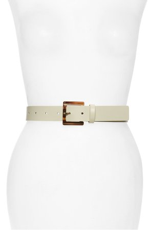 Halogen® Square Buckle Leather Belt | Nordstrom