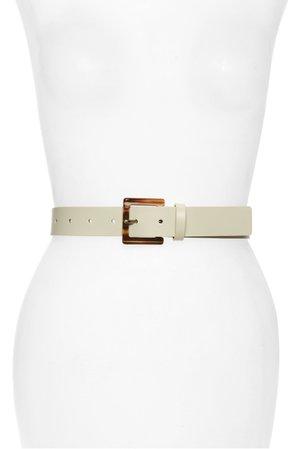 Halogen® Square Buckle Leather Belt | Nordstrom