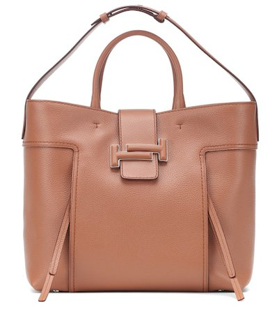 Double T Large leather shopper
