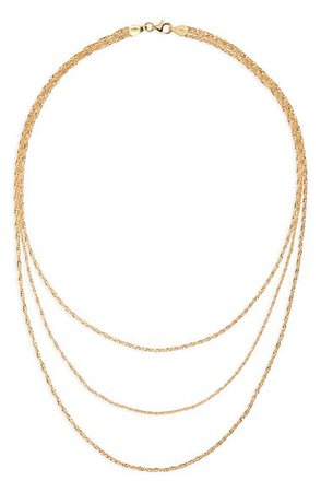 Argento Vivo Sterling Silver Triple Row Necklace | Nordstrom