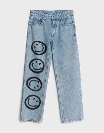 '90s Smiley jeans - New - Woman | Bershka