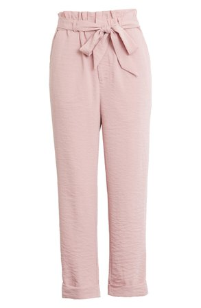 Endless Rose Paperbag Waist Roll Cuff Pants | Nordstrom