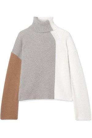 Loro Piana | Color-block ribbed cashmere turtleneck sweater | NET-A-PORTER.COM