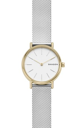 Skagen Signatur Slim Mesh Strap Watch, 30mm | Nordstrom