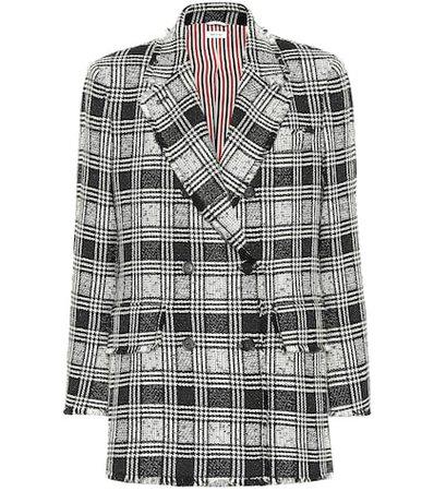 Checked tweed blazer