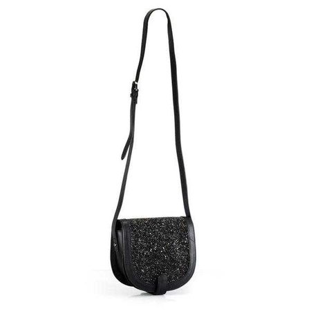 Fashiontage - Black Print Crossbody Bag - 941295829053