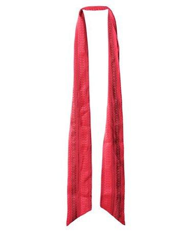 Zeus+Dione Red Silk Mina Scarf aesthet.com