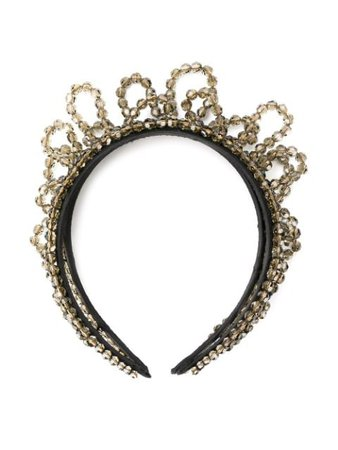 Shop black Simone Rocha beaded embellished headband with Express Delivery - Farfetch