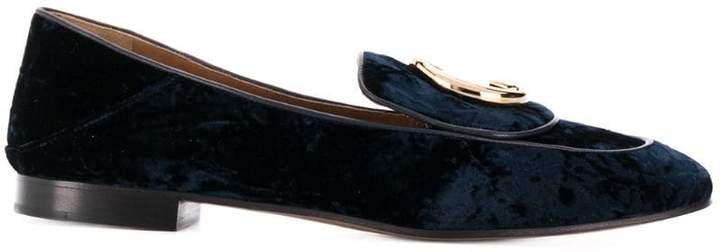 velvet monogram loafers