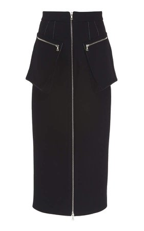 Cargo Wool Midi Skirt