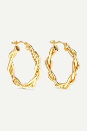 Loren Stewart | 14-karat gold hoop earrings | NET-A-PORTER.COM