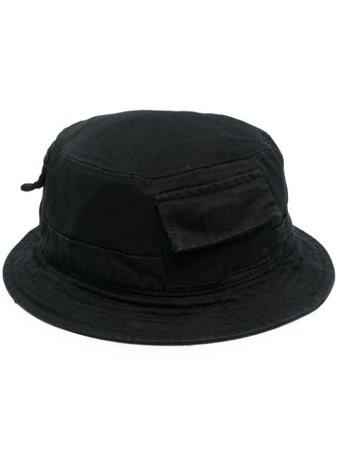 Shop black Heron Preston logo-patch bucket hat with Express Delivery - Farfetch