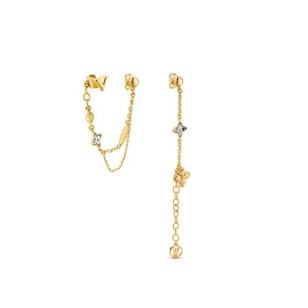 Blooming Strass Mismatched Pendant Earrings - Accessories | LOUIS VUITTON ®