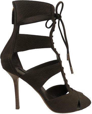 Brown Suede Sandals