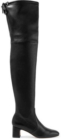 Kirstie Leather Over-the-knee Boots - Black