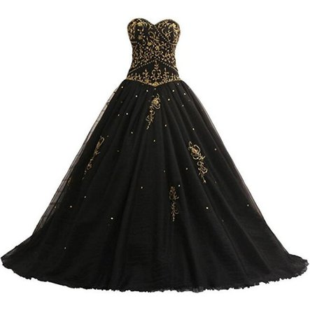 Discount Gothic Black Ball Gown Wedding Dresses With Gold Embroidery Corset Lace Up Back Princess Vintage Non White Colorful Bridal Gowns Custom Made Cheap Gowns Cheap Lace Wedding Dresses From Totallymodest, $150.42  DHgate.Com