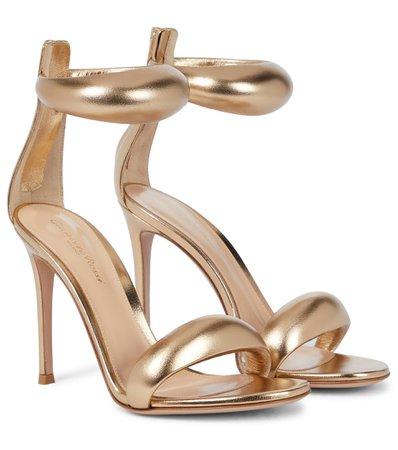 Gianvito Rossi - Bijoux 105 leather sandals | Mytheresa