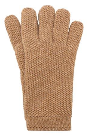 Женские бежевые кашемировые перчатки LORO PIANA — купить за 22700 руб. в интернет-магазине ЦУМ, арт. FAA1252