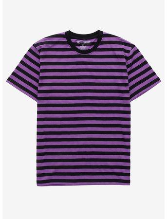 Purple & Black Stripe T-Shirt