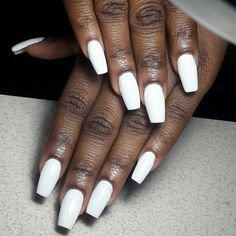 white nails black girl