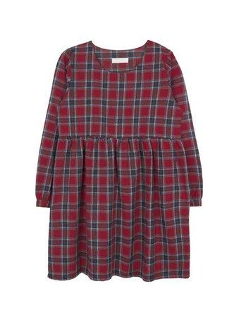 Tartan Check Empire Waist Mini Dress