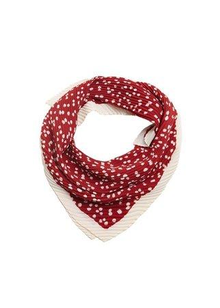 MANGO Printed pleated scarf