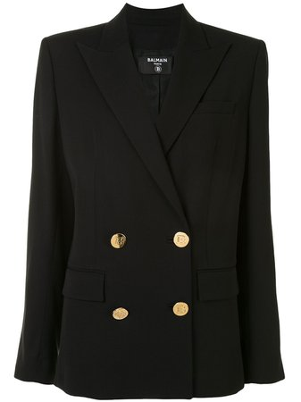 Balmain Oversized Embossed Button Blazer - Farfetch