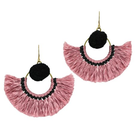 pink and black earrings - Google Search