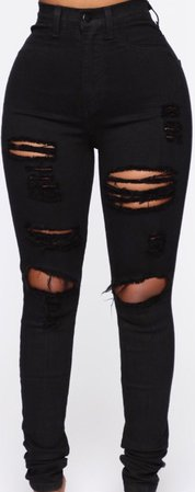 Black FN Ripped Jeans