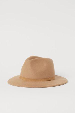 Фетровая шляпа - Бежевый - Женщины | H&M RU
