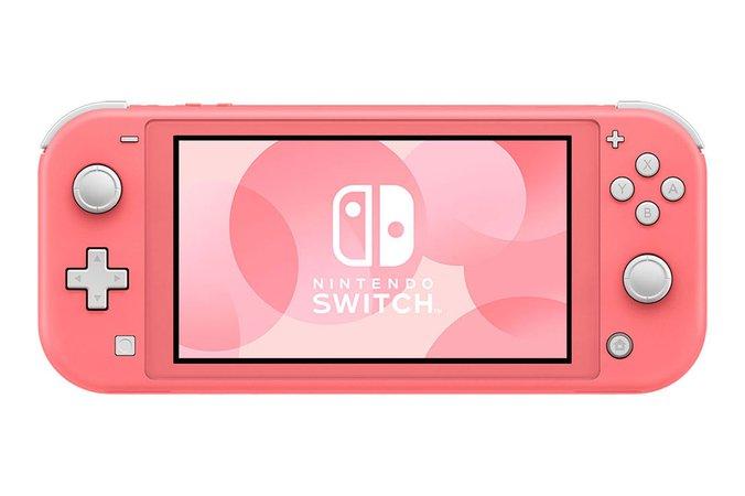 Nintendo Switch Lite - Coral - Nintendo Switch Dock Set