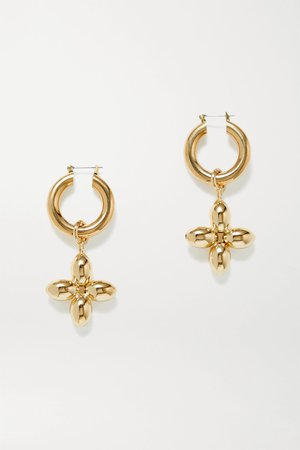 Gold Santina gold-plated hoop earrings | Laura Lombardi | NET-A-PORTER
