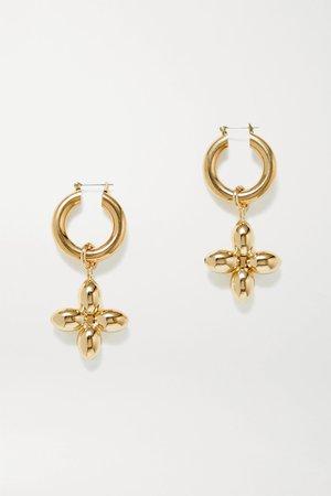 Gold Santina gold-plated hoop earrings | Laura Lombardi | NET-A-PORTER