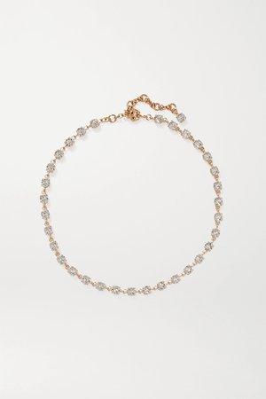 Gold Gold-tone Swarovski crystal necklace | Roxanne Assoulin | NET-A-PORTER