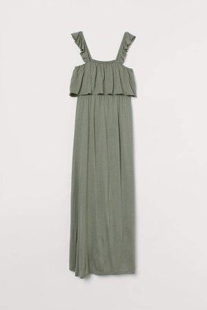 MAMA Long Jersey Dress - Green