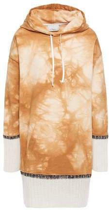Oversized Tie-dyed French Cotton-terry Hoodie