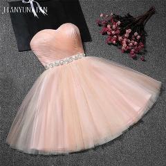 Real Sample Cheap Mini Party Dress Sexy Pink Short Tight Homecoming Dresses 2019 Short Grade Prom Dresses Vestido De Festa Curto