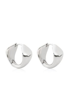 Sterling Silver Cobra Hoop Earrings By Sapir Bachar | Moda Operandi