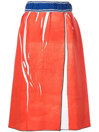 Rohka mid-length wrap skirt