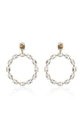 Gossip 18k Yellow Gold Diamond Earrings By Goshwara   Moda Operandi