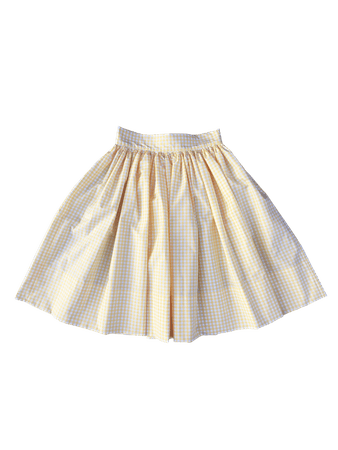 Fifi Mon Ami Skirt (Yellow Gingham)   Faline Tokyo