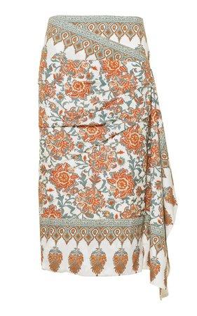 Common Ancestor Printed Cotton Skirt By Johanna Ortiz   Moda Operandi