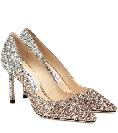Romy 85 Glitter Pumps - Jimmy Choo | Mytheresa