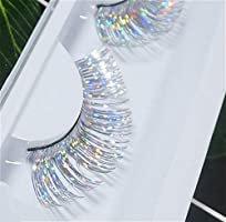 Amazon.com : Dorisue Halloween lashes Silver eyelashes glitter eyelashes Princess cosplay eyelashes silver-white False Eyelashes Extension for Women Girls P24 : Beauty