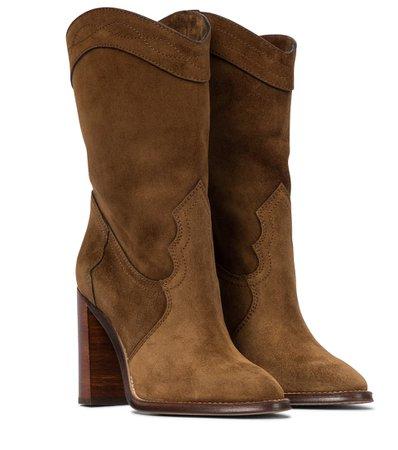 Saint Laurent - Kate 90 suede boots | Mytheresa