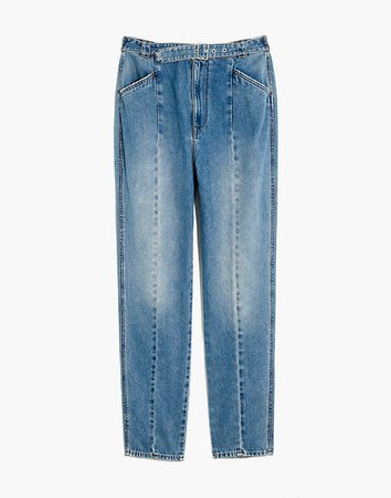 High-Rise Tapered Jeans blue